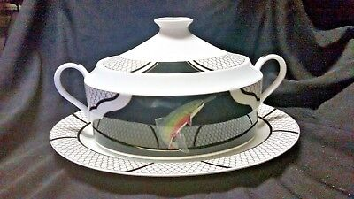 Lynn Chase AMERICAN WATERS -  Soup Tureen w/lid & underplate