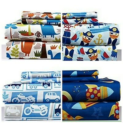 Kids TWIN 3 Piece Super Soft Bed Sheet Set with pillowcase 10 designs available!