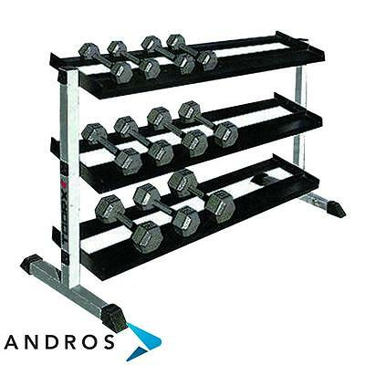 TOORX Stand for dumbbells with 3 shelves