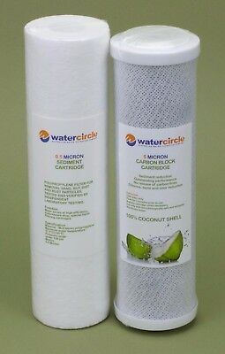 QUALITY water filter Replacement cartridge 0.5+5 with 100% coconut NSF material