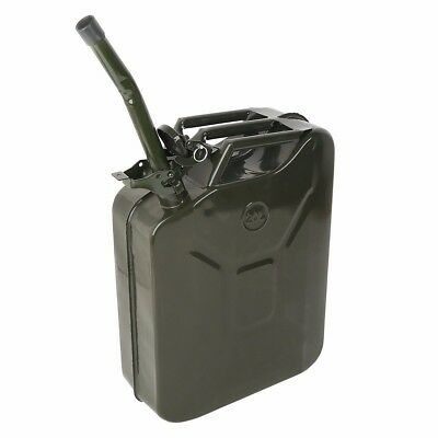 5 Gallon / 20L Jerry Can Oil Fuel Liquid Fluid Gas Steel Tank Military Style