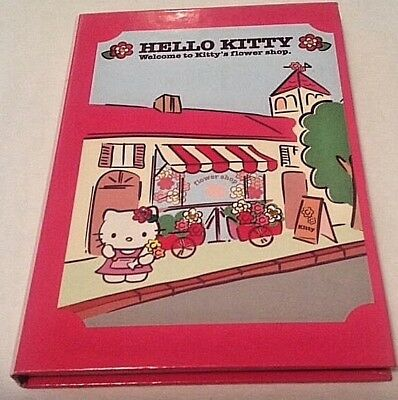 "Sanrio Hello Kitty Flower Shop Journal 2004 New Decorated Sheets 7 1/2"" x 5"""