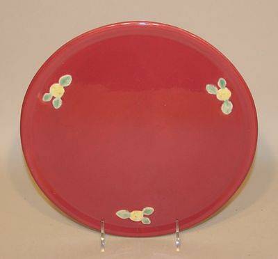 Coors Rosebud USA Art Pottery Rose 11 Inch Round Cake Plate Tray Platter