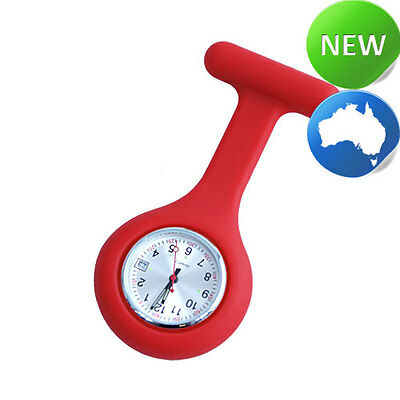 Nurse Silicone FOB Watch with Date Function - Red