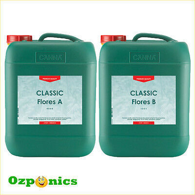 Canna Classic Flores A&b 2 X 5 Litre Nutrients For Hydroponics Indoor Gardening