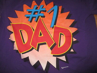 """Vintage 1994 Signal Sport Label """"#1 DAD"""" (XL) T-Shirt FATHER'S DAY"""