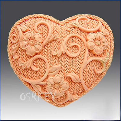 Flower Heart S031 Silicone Soap mold Craft Molds DIY Handmade soap mould