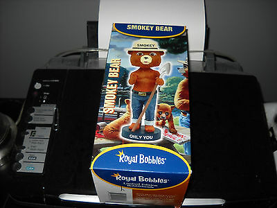 Brand New Smokey The Bear Only You Royal Bobbles Bobblehead  Rare Forest Fires