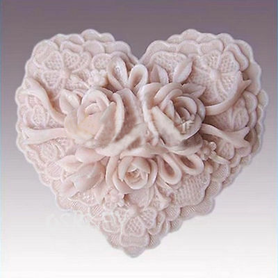 Heart Roses S071 Silicone Soap mold Craft Molds DIY Handmade soap mould
