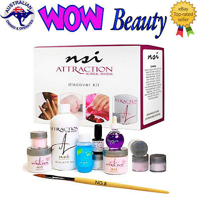 NSI Attraction Acrylic Discover Kit + Free Acrylic Nails Brush