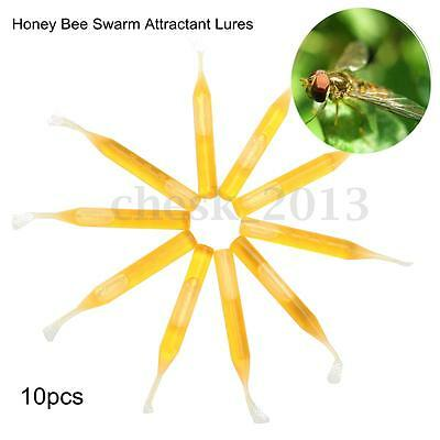 10x Honey Bee Swarm Attractant Lures Beekeeping Fruits Equipment Hive Wax Tool