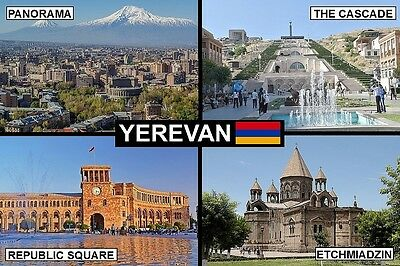 SOUVENIR FRIDGE MAGNET of YEREVAN ARMENIA