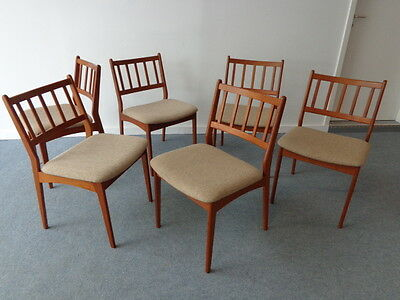 70's Vintage Teak  Dining Chairs ( 6 ) Danish Modern !!