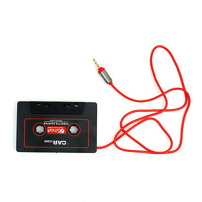 CAR AUDIO TAPE CASSETTE ADAPTER for IPHONE IPOD MP3 CD RADIO HTC AUX 3.5mm JACK
