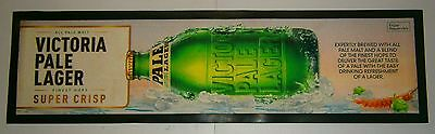 VB Victoria Bitter Beer rubber backed drink mat runner for home bar collector