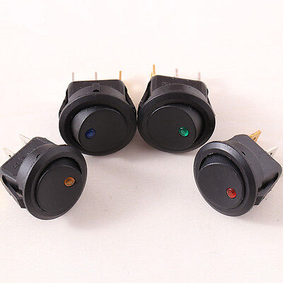 4x Boat Rocker Switch 12V Car Dot Light Toggle Auto ON-OFF Electric Accessories