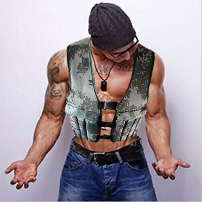 20KG/44LB Camo Adjustable Weight Vest Workout Crossfit Strength Training Fitness