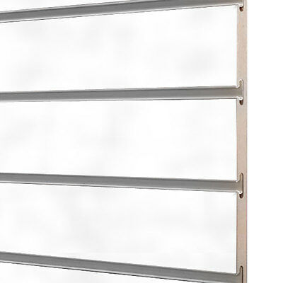 10x Slatwall/Slatboard white panels 4ft x 4ft with free inserts