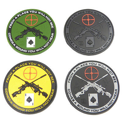 Combat Moral Patch From A Place Sniper Patch Ace Of Spades Rubber Airsoft Army