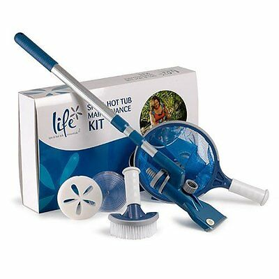 Life Spa & Hot Tub Accessories Maintenance Kit - Includes Net & Scum Sponge etc