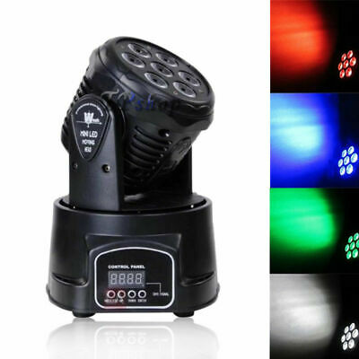 PROIETTORE LED TESTA ROTANTE 360° MOBILE EFFETTI DISCO 7x10w LED  PARTY DISCO ne