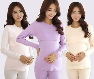 Fashion Maternal Pajamas Modal Pregnant Belly Sleepwear Nursing Nightie Set