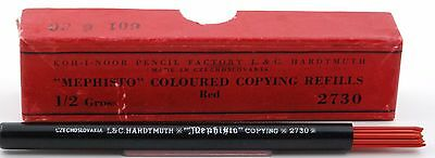 Hardtmuth Mephisto Kopierminen Farbmine Rot 2mm copy pencil leads red KOH I NOOR