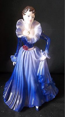 Stunning Retired Coalport Figurine Anne Ladies Of Fashion Figurine Of Year 1997