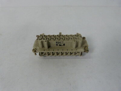 Weidmuller HDC-HE-16BS Connector 16Amp 500V AWG 26-16  USED