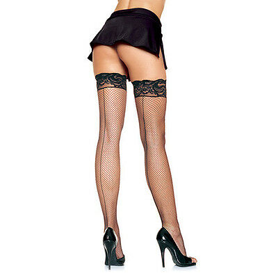 CALZE A RETE HOSIERY STAY UP FISHNET BLACK Taglia UNICA LEG AVENUE