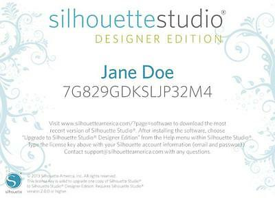Silhouette Studio Software Upgrade to Designers Edition - CODE BY EMAIL