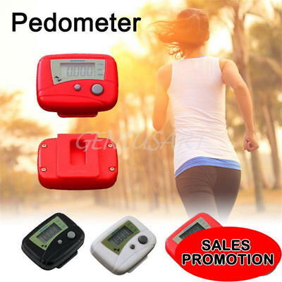 Lcd Pedometer Step Walking Jogging Calorie Counter Distance Fitness + Belt Clip