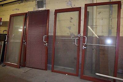 Lot of 12 Tubelite Industrial Aluminum Glass Store Front Entry Doors