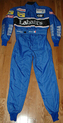 Alain Prost Signed Replica 1993 Williams F1 Race Suit Overall with Proof