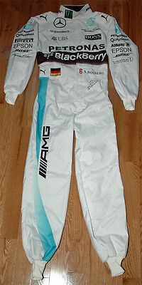 Nico Rosberg Autographed Signed Replica 2015 - 2016 F1 Race Suit Overall