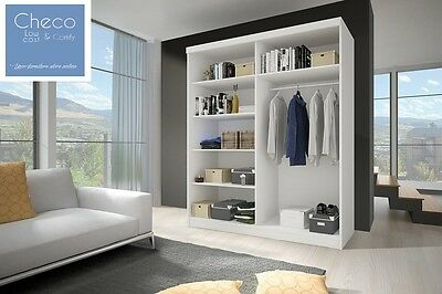 BRAND NEW MODERN BEDROOM SLIDING DOOR WARDROBE 6 ft (183cm) - CHOICE OF FRONTS