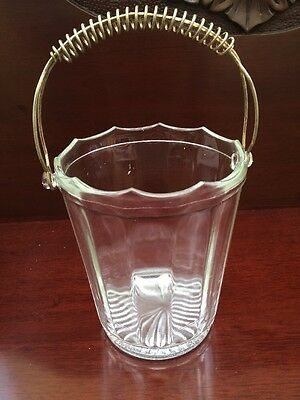 Vintage Glass Ice Bucket 15cm