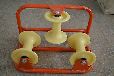 Wire Pay-off Spool Reel Rolling Rack Holder Corner Type Cable Pulley Wheel Tool