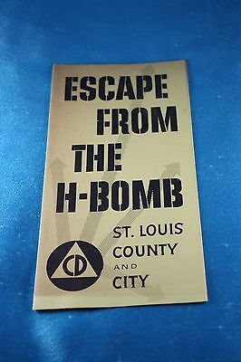 Escape from the H-Bomb - Rare Nuclear War Brochure - 1955