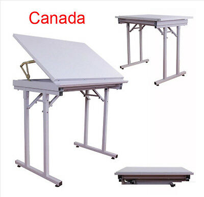 Professional Steel Folding AngleAdjustable Drawing Drafting Table 35*27*9inches