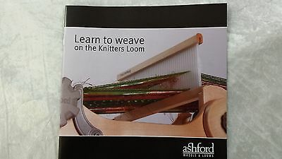 Learn to Weave on the Knitters Loom Full Colour Instruction Booklet 14 Pages