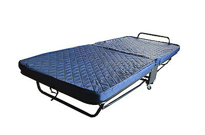New Folding Single Bed with Cover 2 Sizes Small Steel Fram with Foam Mattress