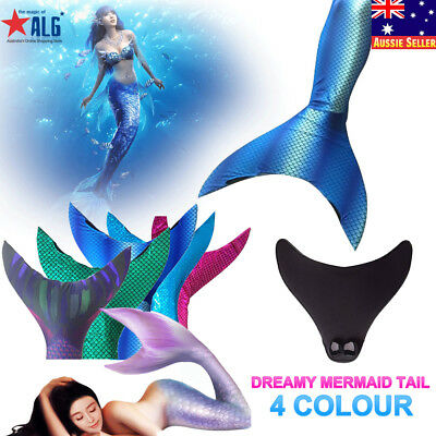 Dreamy Mermaid Tail with Monofin for Swimming Fins Women Girls Swimsuit Swimwear