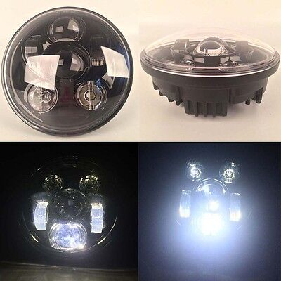"Motorcycle 5.75"" Round Headlight Daymaker LED Light Bulb Headlamp for Harley New"