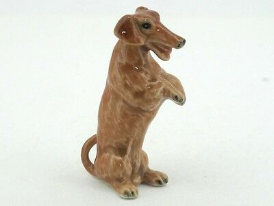 Handpainted Miniatures Collectible Ceramic Dachshund Dog Breed FIGURINE Animals
