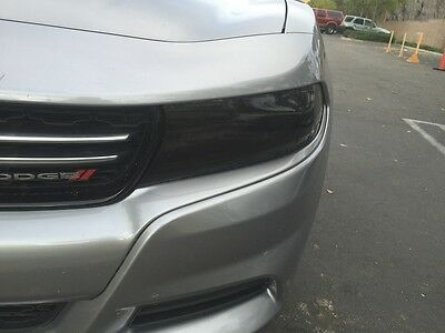 2015-2018 Dodge Charger Smoke Head Light Precut Tint Cover Smoked Overlays