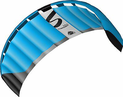 Brand New Hq Symphony Pro 2.5M Neon Blue Power Kite Package