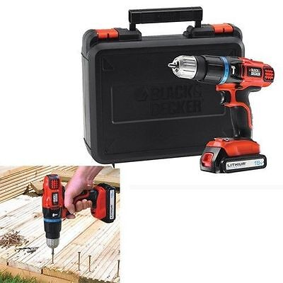 Black Decker EGBL188K 18v Cordless Combi Hammer Drill + 1 Lithium ion Battery
