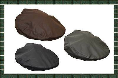 Walker & Hawkes Wax Flat Cap Country Waxed Shooting Outdoor Hat Navy Brown Olive