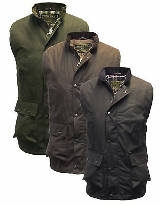 Wax Bodywarmer Waistcoat Gilet Waxed Countrywear Hunting S-5XL Olive Brown Navy